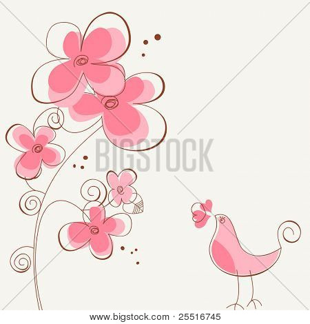 Flowers and bird love story