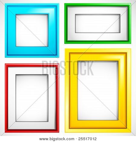 colorful empty frame