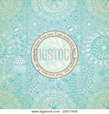 Vintage floral seamless pattern vector illustration