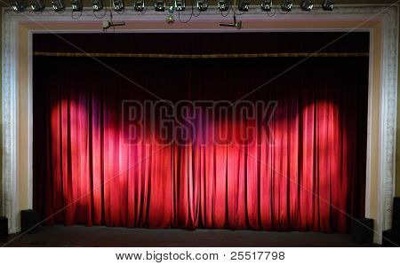 Theater stage. Theater interior.