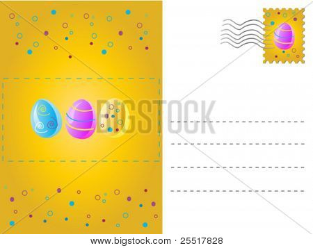 Mail, card for easter. Vector. Easy to edit.See more easter cards in my portfolio.