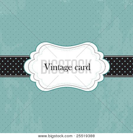 Vector vintage frame, greeting card