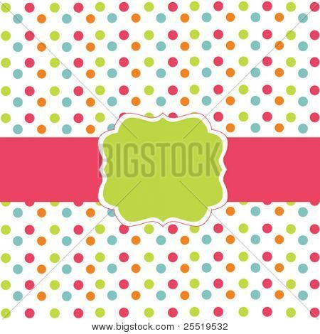 Polka dot design, vector frame