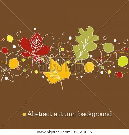 Brown autumnal background