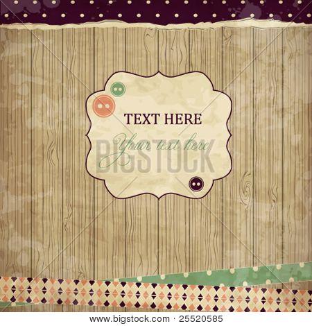 Cartão de sucata, projeto vintage