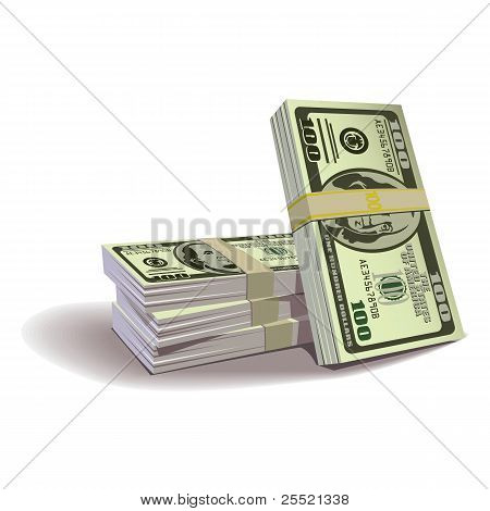 Dollar banknotes vector illustration, financial theme