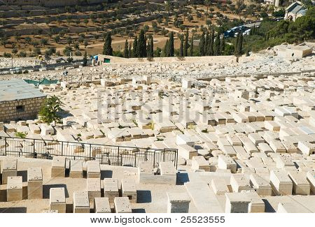 Old cemetery on Mount of Olives in Jerusalem