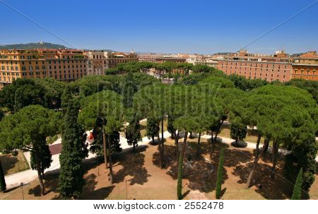 Rome - Cityscape From Castel Sant Angelo
