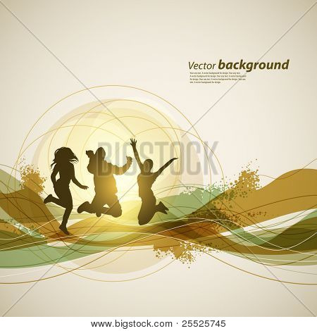 Colour abstract background for design. A vector illustration