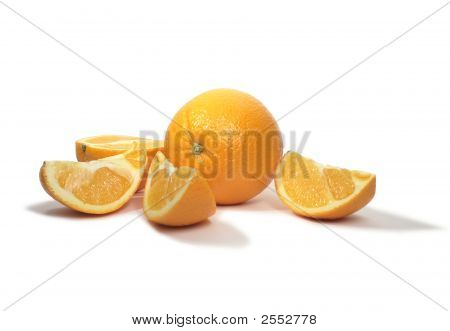 Incised Orange On White