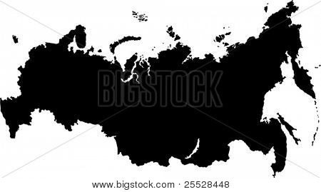 Vector map of the Russian Federation with federal subjects