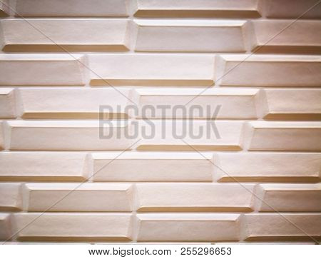 poster of Home Decoration Concept And Abstract Background Made With Brown Cement Panel. Closeup View Of Brown