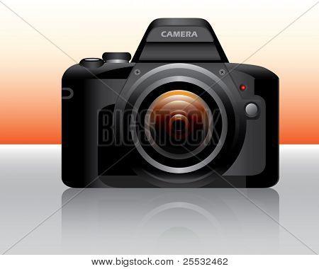 Naranja de cámara réflex digital