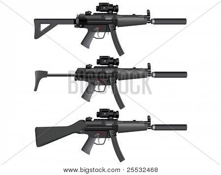 Submachine gun heckler mp5