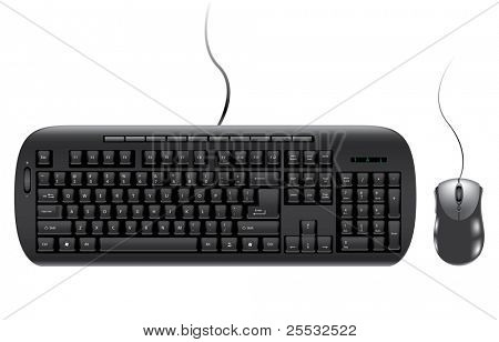 modern computer keyboard and mouse