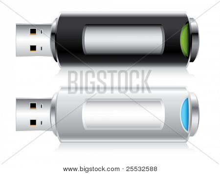 USB Flash drive vector illustration