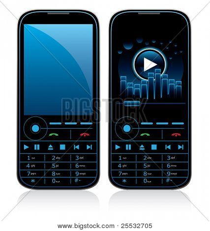 Vector illustration of mobile phone concept