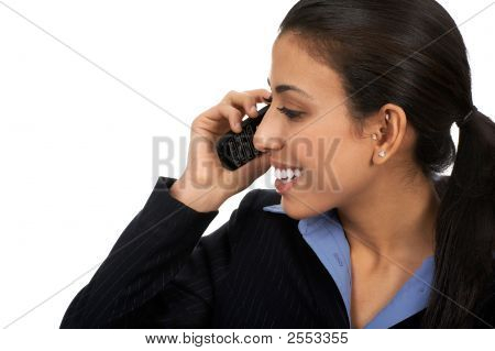 Woman With Cellular