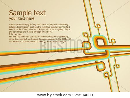 Abstract colorful background. Vector illustration. Clean design templete.
