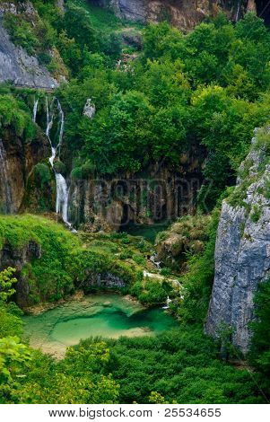 National park Plitvice lakes Croatia - waterfalls