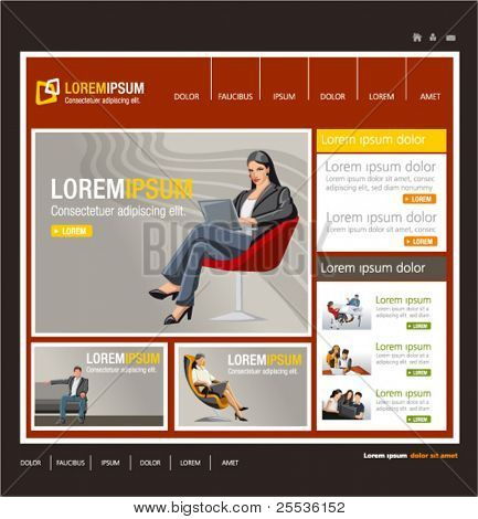Red business website Template