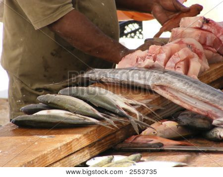 Outdoor Fish Market