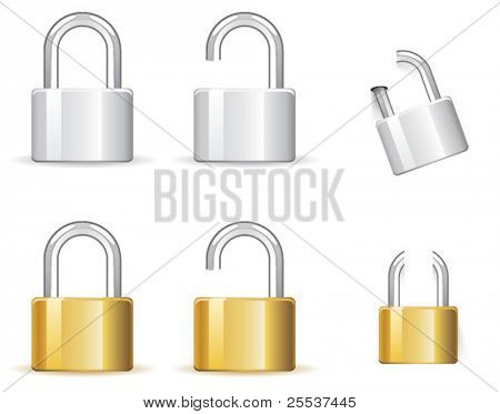 Vector padlock icon for web design