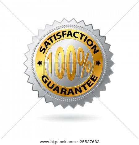 Vector satisfaction guarantee label golden label.