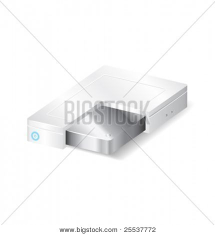 Vector white hard drive section