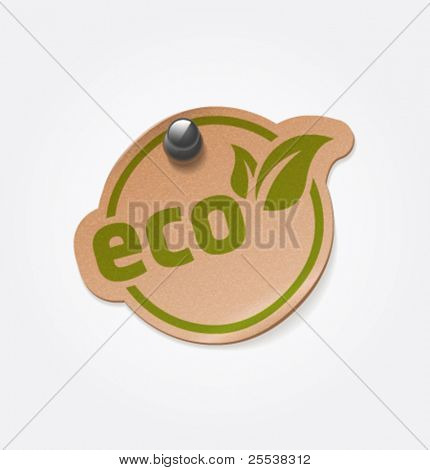 Vector eco sticker.