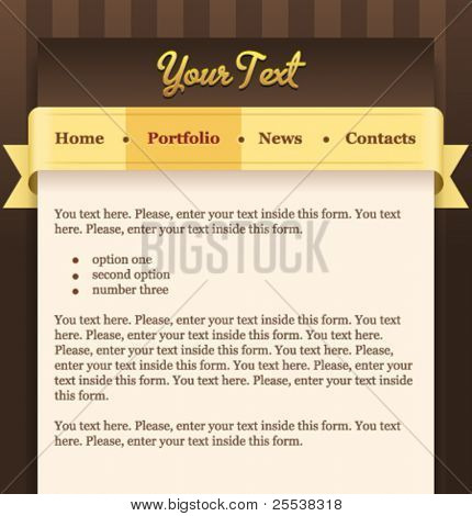 Vector web site menu template