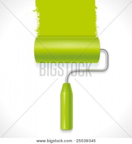 Vector paint roller.