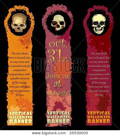 Vertical Halloween Banners with skulls