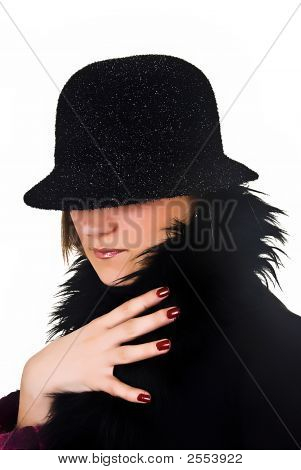 Incognito Woman In Black Hat
