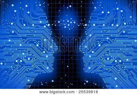 abstrakt blau Vektor Hintergrund mit High-Tech Platine