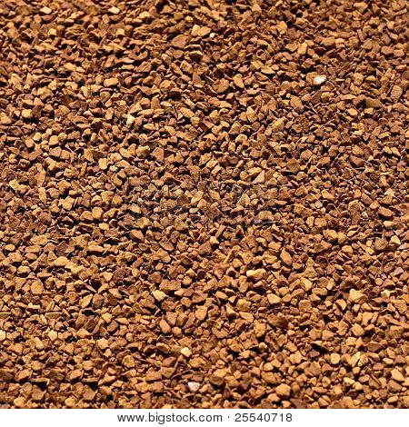 Soluble coffee background close-up