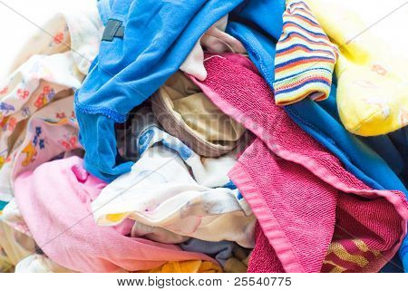 Heap Wash clothes close-up