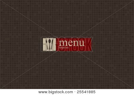 Concept design restaurant menu on minimal elements