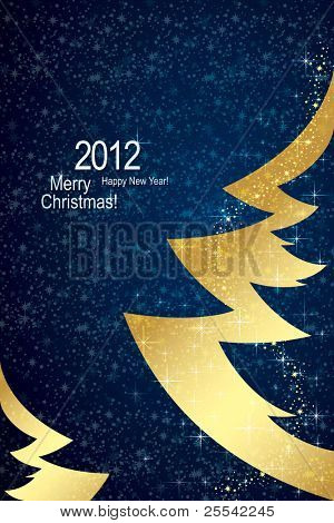 Christmas & Happy New Year background