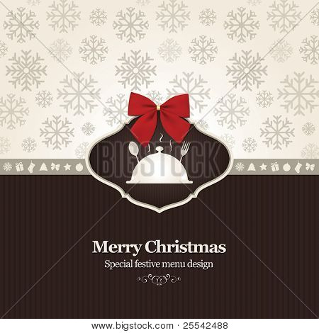 Vector. Special Christmas restaurant menu