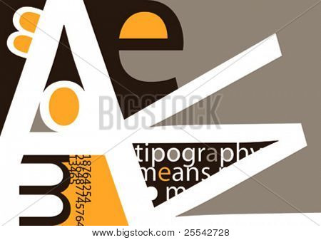 Background with typography. Vector illustration.