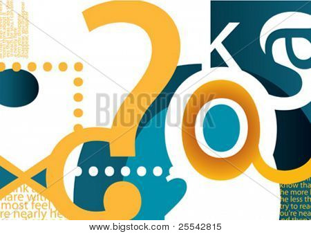 Composition with typography. Vector illustration.