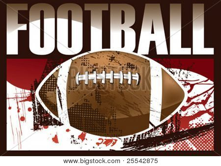 American football poster. Vector illustration.