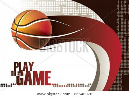 Basketball poster. Vector illustration.