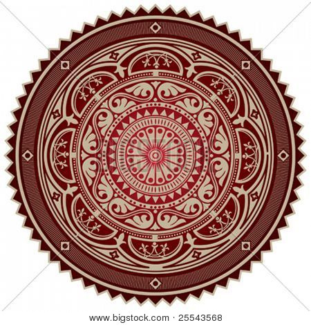 Arabesque isolated on white. Vector illustration.