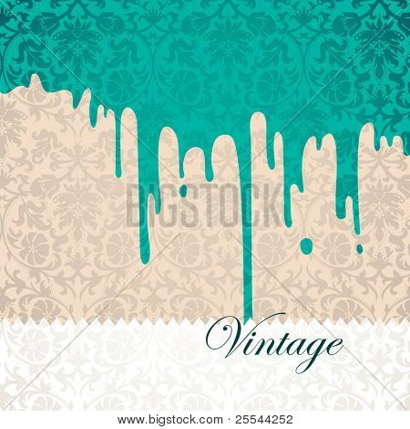 Vintage conceptual background with paint stain. Vector illustration.