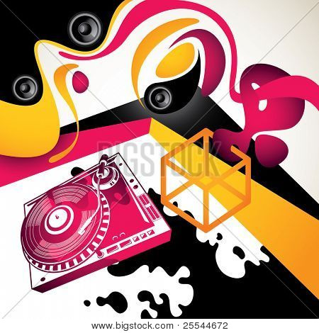 Artistic urban party background with abstraction. Vector illustration.