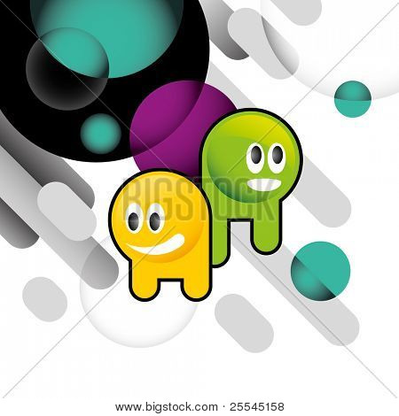 Designed conceptual banner with colorful illustration. Vector illustration.