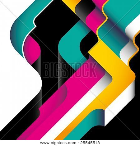 Designed modernistic abstraction in color. Vector illustration.