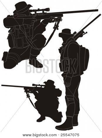 Sniper silhouette